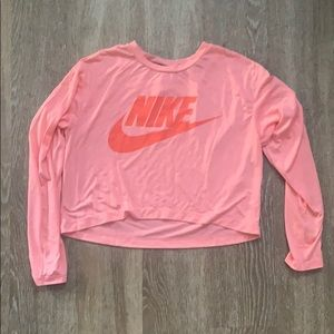 Nike long sleeve crop top size medium